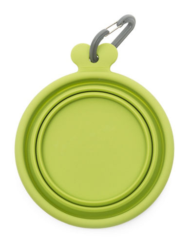 Messy Mutts Collapsible Pet Feeding Bowl-GREEN-Medium