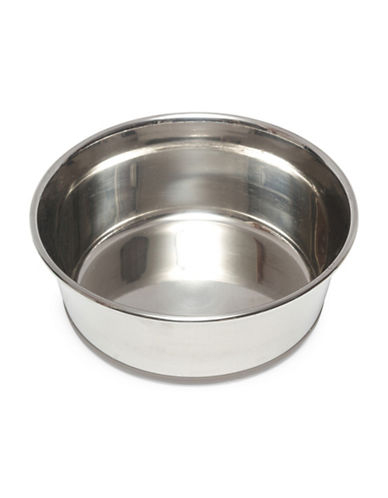 Messy Mutts Small Non-Slip Stainless Steel Bowl-GREY-Small