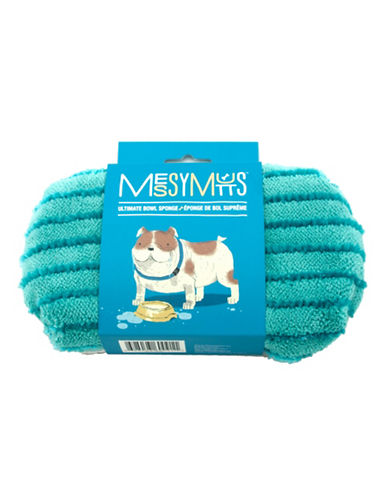 Messy Mutts Ultimate Bowl Sponge-BLUE-One Size