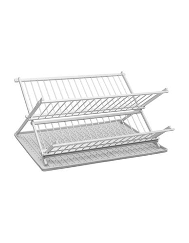 Ta Da Drysmart Folding Dish Rack-LIGHT GREY-One Size