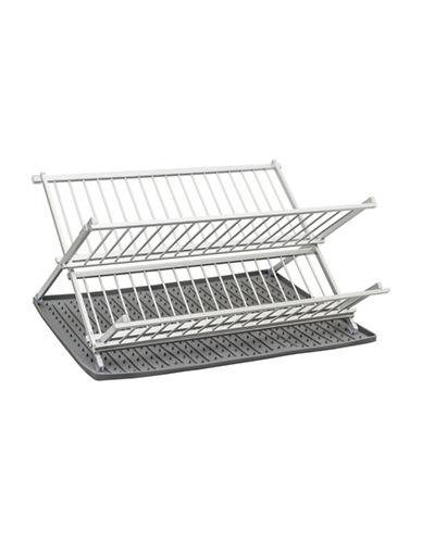Ta Da Drysmart Folding Dish Rack-DARK GREY-One Size