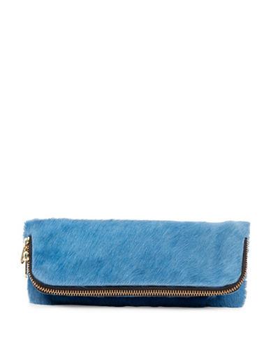 Brunswick And Co Avenue Blue Polar Pony Hair Bag-BLUE-One Size