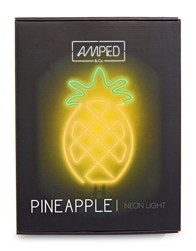 Amped And Co Pineapple Neon Desk Light-YELLOW-One Size