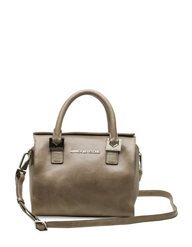 Annick Levesque Ana Small Leather Shoulder Bag-TAUPE-One Size