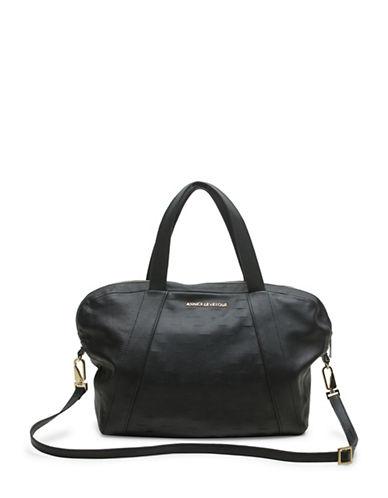 Annick Levesque Angela Leather Shoulder Bag-BLACK-One Size