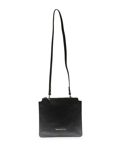 Annick Levesque Style Stella Crossbody Leather bag-BLACK-One Size