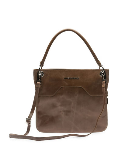 Annick Levesque Style Amelie Leather Crossbody Bag-TAUPE-One Size