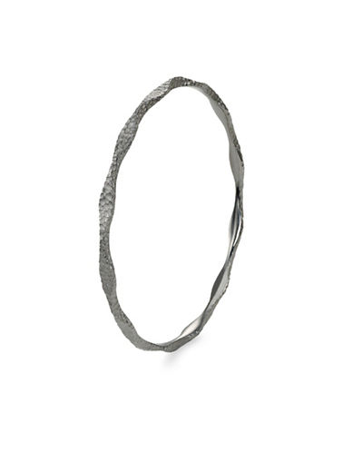 Hera Agora Wave Midnight Finish Bangle-SILVER-One Size