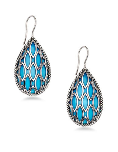 Hera Theya Gemstone Pear Drop Earrings-SILVER-One Size