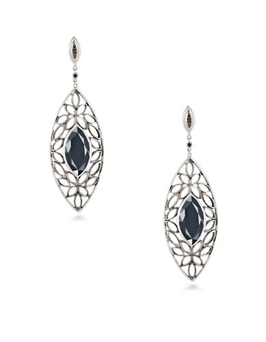 Hera Paradise Signature Gemstone Earrings-SILVER-One Size