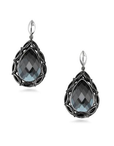 Hera Paradise Peardrop Gemstone Earrings-SILVER-One Size