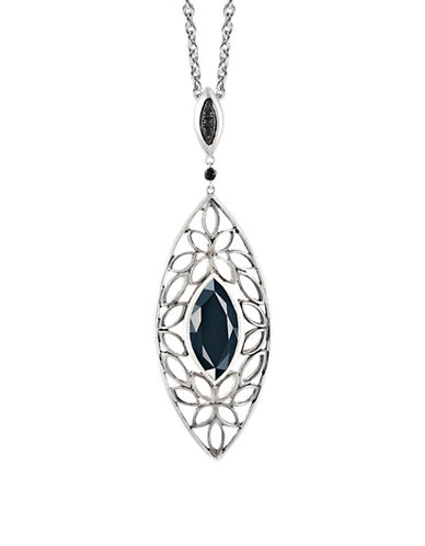 Hera Paradise Signature Gemstone Pendant Necklace-SILVER-One Size