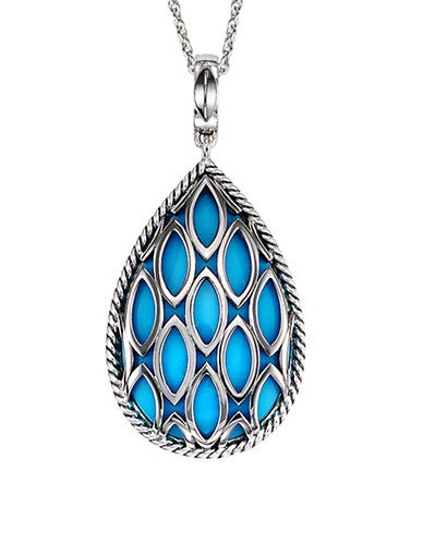 Hera Theya Gemstone Pendant Necklace-SILVER-One Size