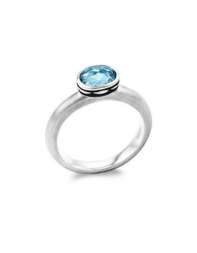 Hera Cocktail Stax Blue Lagoon Topaz Ring-SILVER-7