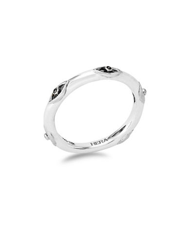 Hera Classic Stax Stackable Silvertone Ring-SILVER-7