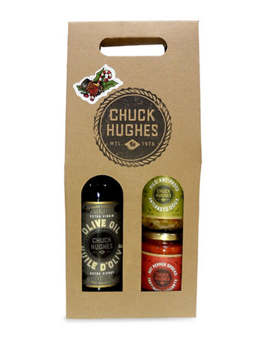 Chuck Hughes My Kitchen Staples Olive Oil Three-Piece Gift Set-NO COLOUR-One Size
