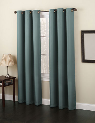 Home Studio Monterey 63-Inch Curtain Panel-MINERAL-63 inches