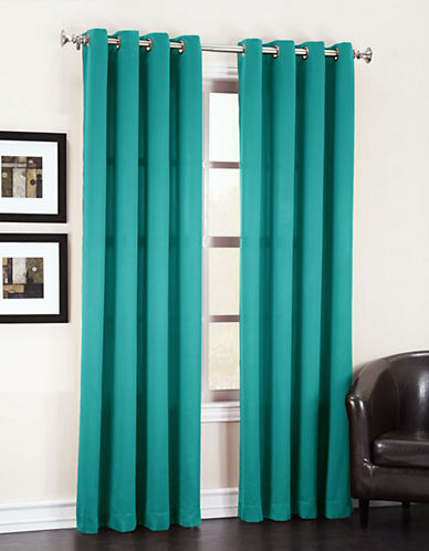 Home Studio Set of Two Room Darkening Curtains-TEAL-84 inches