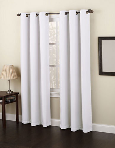Home Studio Monterey 95-Inch Curtain Panel-WHITE-One Size