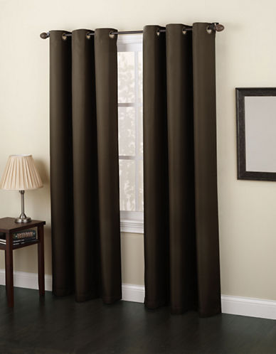 Home Studio Monterey 95-Inch Curtain Panel-BROWN-One Size
