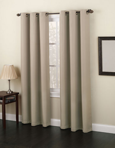 Home Studio Monterey 95-Inch Curtain Panel-TAUPE-One Size