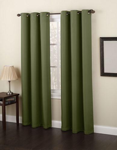 Home Studio Monterey 95-Inch Curtain Panel-DARK BEIGE-One Size