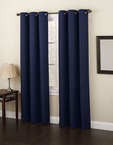 Home Studio Monterey 95-Inch Curtain Panel-NAVY-One Size