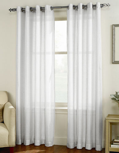 Home Studio Cleo Curtain Panel-WHITE-84 inches