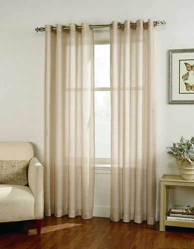 Home Studio Cleo Curtain Panel-BEIGE-84 inches