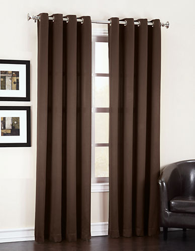 Home Studio Madison Room Darkening 84-Inch Curtain Panel-BROWN-One Size