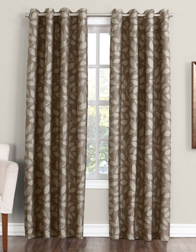 Home Studio Monterey 63-Inch Curtain Panel-TAUPE-63 inches