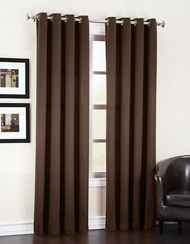 Home Studio Madison Room Darkening 63-Inch Curtain Panel-BROWN-One Size