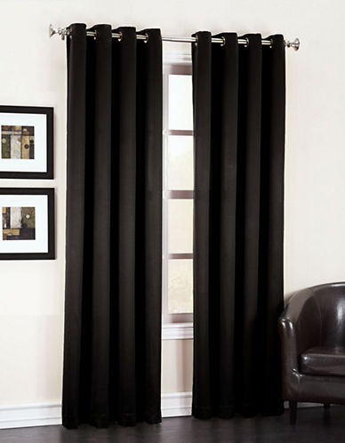 Home Studio Madison Room Darkening 63-Inch Curtain Panel-BLACK-One Size