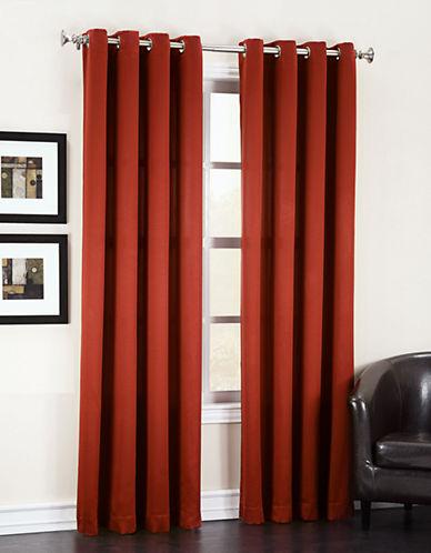 Home Studio Madison Room Darkening 84-Inch Curtain Panel-ORANGE-One Size