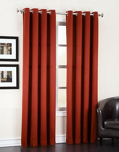 Home Studio Madison Room Darkening 63-Inch Curtain Panel-ORANGE-One Size
