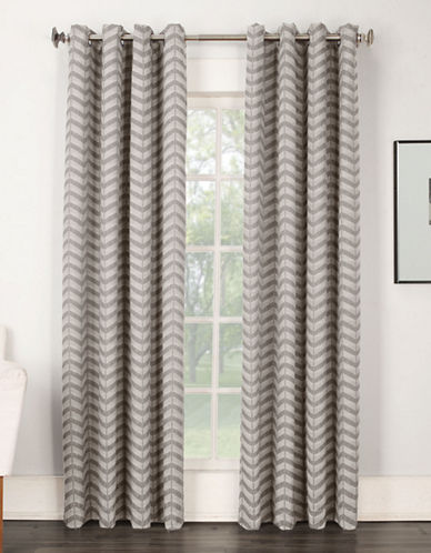 Home Studio Claude Zigzag Panel Curtains-GREY-84 inches