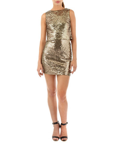 Tfnc Camilla Sequined Bodycon Dress-OLIVE-Small