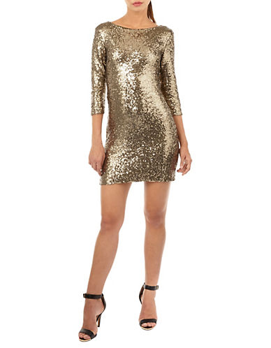 Tfnc Francis Sequined Bodycon Dress-OLIVE-Large