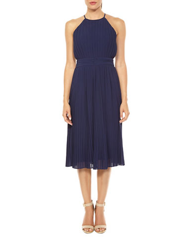 Tfnc Serene Pleated Midi Dress-NAVY-Large