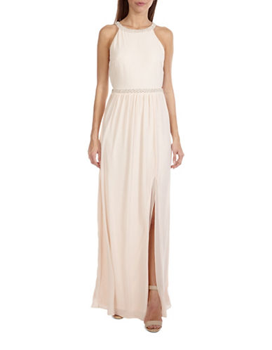 Tfnc Laverne Embellished Maxi Dress-NUDE-Medium