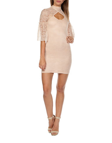 Tfnc Daren Lace Bodycon Dress-NUDE-Small