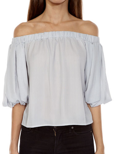 Tfnc Striped Off-The-Shoulder Top-STRIPE-Small