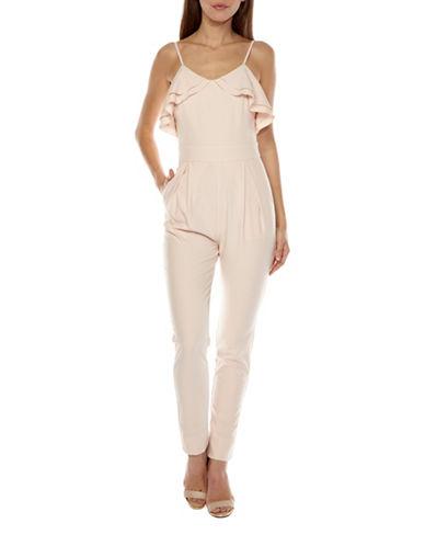 Tfnc Amara Frill Jumpsuit-PINK-X-Small
