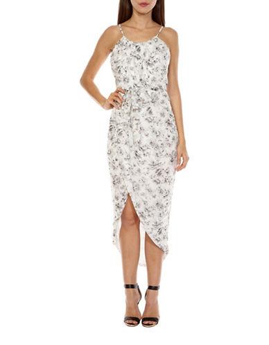 Tfnc Zeus Floral-Printed Dress-GREY-Small
