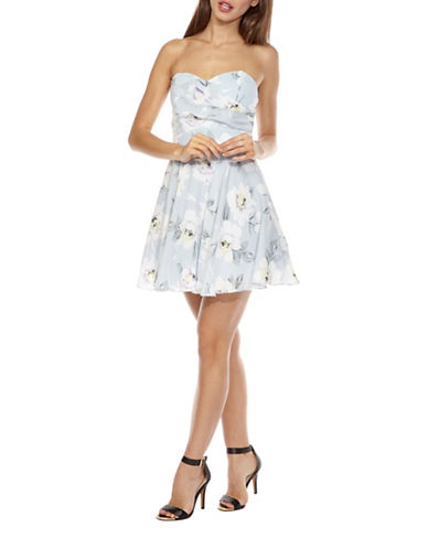 Tfnc Floral Strapless Tutu Dress-FLORAL-Large