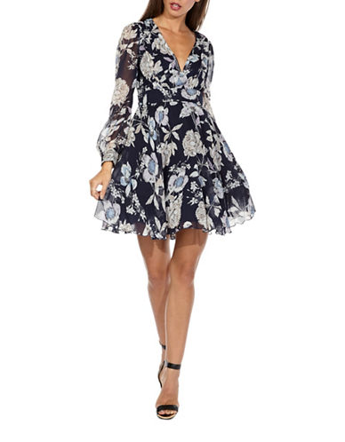 Tfnc Nordi Floral-Printed Fit-and-Flare Dress-MULTI-X-Small