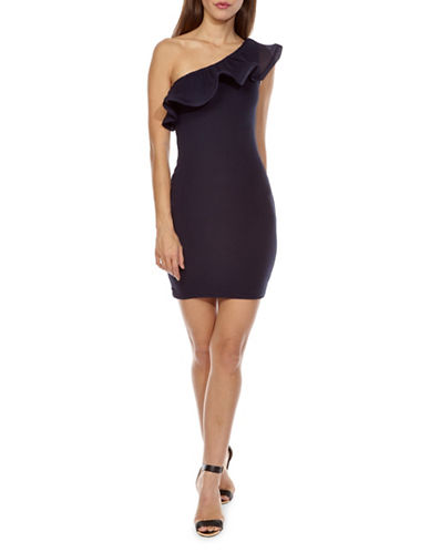 Tfnc Amala One-Shoulder Bodycon Dress-NAVY-Small