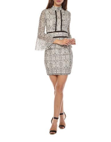 Tfnc Nolyta Lace High Neck Dress-BLACK-Small