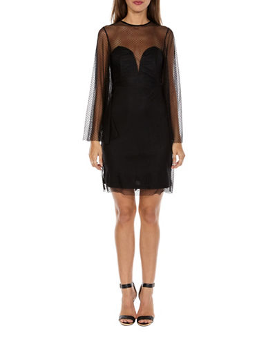Tfnc Starry Chiffon Bodycon Dress-BLACK-Large