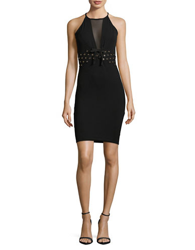 Tfnc Jenna Halter Neck Dress-BLACK-Medium
